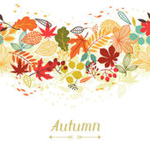 Background of stylized autumn leaves for greeting cards. — Stock Vector