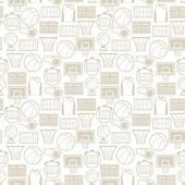 Бесшовный фон с баскетбола иконки в плоский стиль Спорт. — Cтоковый вектор