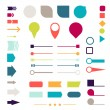 Set of elements, markers, arrows and dividers for design. — Stock Vector #50280967