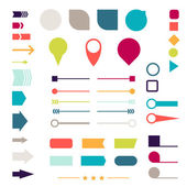Set of elements, markers, arrows and dividers for design. — Stock Vector