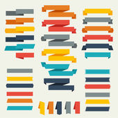 Set of retro ribbons and labels for design. — Stock Vector
