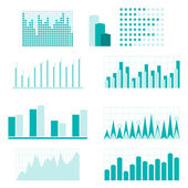 Set of infographic diagram elements for design. — Stock Vector