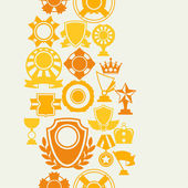 Seamless pattern with trophy and awards in flat design style. — Stock Vector