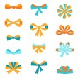 Set of various abstract bows and ribbons. — Stock Vector #51528297