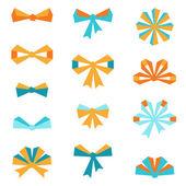 Set of various abstract bows and ribbons. — Stock Vector