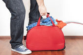 Stuffed suitcases — Stock Photo
