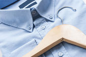 Shirt and cloth hanger — Stok fotoğraf