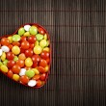 Heart Shape candy box — Stock Photo