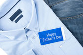 Blue jeans and blue shirt — Stock fotografie