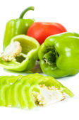 Bell pepper and tomato — Stock Photo