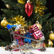 Shopping at christmas — Stock Photo
