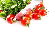 Verse cherry tomaten — Stockfoto