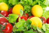 Fresh cherry tomatoes — Stock Photo