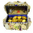 Stock Photo: Jewelry box decorated seashells