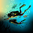 Diving — Stock Vector