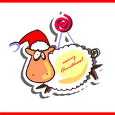 Christmas sheep — Stock Vector