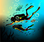 Diving — Stock Vector