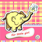 Baby girl card — Stock Vector