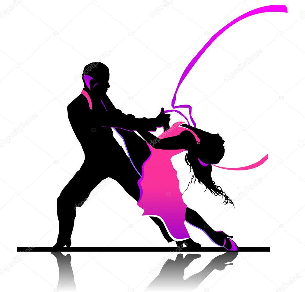 Ballroom dancing stock vector elena bessonova 16386461 for Blog danse de salon