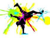 Brakedance — Stockvektor