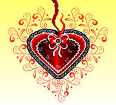 Lacy hart — Stockvector
