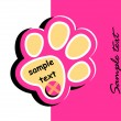 Royalty-Free Stock Vector Image: Paw print