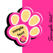 Paw print — Stock Vector