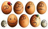 Funny eggs — Stock Photo