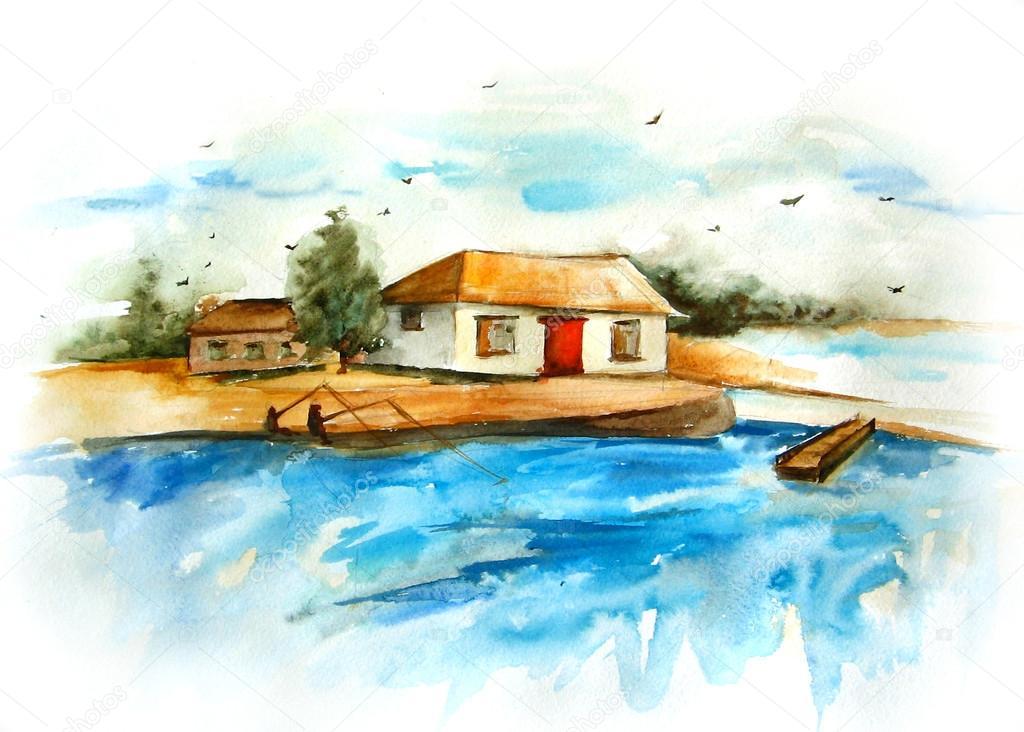 Paesaggio marino foto stock elena bessonova 22184099 for Disegno paesaggio marino