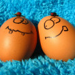 Funny easter eggs — Stockfoto #23312492