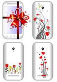 Female smart phones — Stock Vector