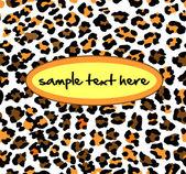 Leopard pattern — Stock Vector