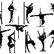 Vector de stock : Pole dance