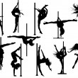 Pole dance — Stockvector #32614235
