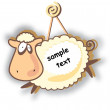 Stock Vector: Funny sheep