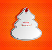 Christmas decorative shape — Vettoriale Stock