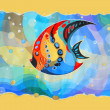 Stock Photo: Abstract fish. Painted image