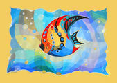 Abstract fish. Painted image — Stock Photo