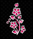 抽象花卉装饰 — 图库矢量图片