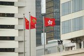 Flags of Hong Kong — Stock Photo