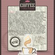 Royalty-Free Stock Vector Image: Coffee design template menu or banner or label.Vector  backgroun