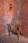 Vintage lamp and chair — Stockfoto