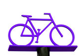 Purple bicycle — Stock Photo