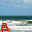 Lone Lifeguard chair along the Atlantic Ocean in Jacksonville Florida — Stock Photo #32755159