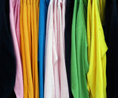 Display of shirts — Stock Photo