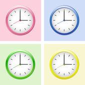 Sistema del reloj moderno multicolor. — Vector de stock