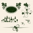 Winery design objects set. — Vector de stock  #12839239