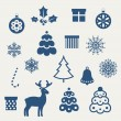 Set of Christmas icons. — Stock Vector #12915696