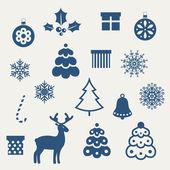 Conjunto de iconos de navidad. — Vector de stock
