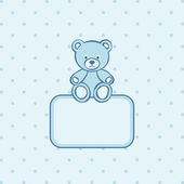 Teddy bear toy frame. — Stock Vector